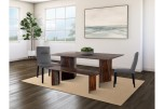 Cambria Midnight Dining Table & Bench, D8396-M