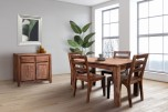 """Urban Sheesham Wood 52"""" Small Dining Table with 24"""" Butterfly Leaf Extension by Porter Designs, designed in Portland, Oregon"""