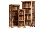 Tahoe Set Of 3 Sheesham Wood Bookshelves by Porter Designs, designed in Portland, Oregon