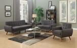 Daphne Gray Linen-Look Poly Sofa