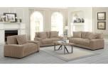 Big Chill Tan Poly Corduroy Sofa