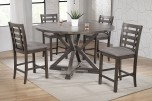 Stratford Counter Table with Lazy Susan, Drop Leaves & Chairs, DST36060