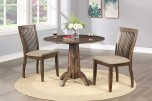 Zoey Round Dining Table w/ 2 Drop Leaves & Chairs, DZ14040