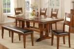 Mango Dining Table with Butterfly Leaf, Bench & Chair, DMG4492