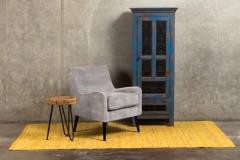 Kristina Cement Gray Accent Chair by Porter Designs, designed in Portland, Oregon