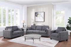 Dawson Gray Sofa, Loveseat & Chair, SWU8033