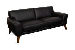 COMING SOON, PRE-ORDER NOW! Modena Black Leather Sofa, Loveseat & Chair, L0195