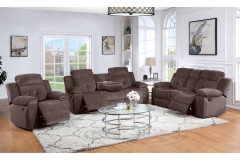 COMING SOON - PRE-ORDER NOW! Embry Brown Reclining Sofa, Loveseat & Chair, M8081