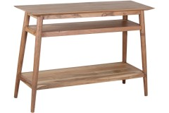 COMING SOON, PRE-ORDER NOW! Portola Natural Console Table with Shelf, 2005-002NT