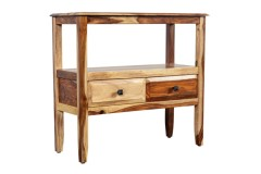 Sheesham Accents Console Table With 2 Drawers by Porter Designs