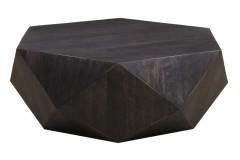 Prism Black Mango Wood Coffee Table by Porter Designs, designed in Portland, Oregon