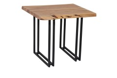Manzanita Natural End Table with Different Bases, VCA-ET24N
