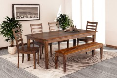 Sonora Harvest Dining Table, Bench & Chairs, ART-801-HRU