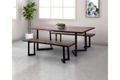 """Manzanita Midnight Sheesham 72"""" Dining Table with Different Bases, VCS-DT72M"""