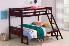 Littleton Espresso Twin/Full Bunk Bed, COAST-405052BRN