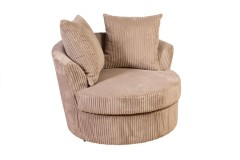 Big Chill Tan Swivel Accent Chair by Porter Designs