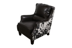 Wrangler Brown Crackle Bonded Leather & Cow Microfiber Accent Chair by Porter Designs