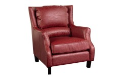 Garnett Red Crackle Bonded Leather Accent Chair by Porter Designs