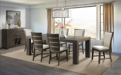 Grady Dining Table and Slat Back Side Chair, DGD218DT