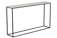 Arezzo White Marble Top Console Table by Porter Designs
