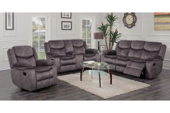 Logan Gray Reclining Sofa, Console Loveseat & Chair, M6629 - LIMITED SUPPLY