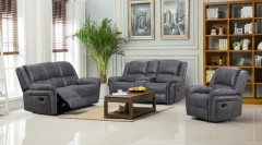 Socorro Gray Reclining Sofa, Console Loveseat & Recliner, M7625