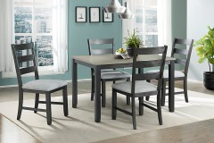 Martin Gray 5pc Dining Set [Table + 4 Chairs], DMT3005DS