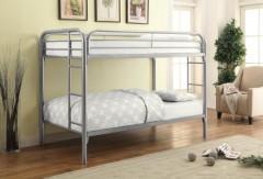 COMING SOON - PRE-ORDER NOW! Morgan Silver Metal Twin/Twin Bunk Bed, COAST-2256V