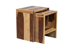 Sheesham Accents Nesting Tables by Porter Designs, designed in Portland, Oregon