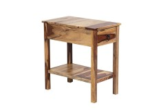 Sheesham Accents Chair Side Table by Porter Designs, designed in Portland, Oregon