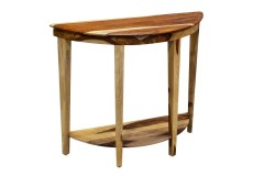 Sheesham Accents Half Round Console Table by Porter Designs