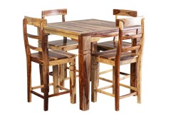 """Tahoe Square 40"""" Gathering Table & 24"""" Counter Chairs, SBA-9027N"""