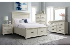 Slater White Nightstand, SR600NS - LIMITED SUPPLY
