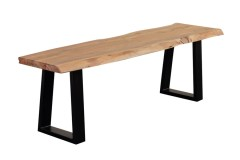 Manzanita Natural Bench with Different Bases, VCA-BN58N
