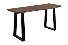 Manzanita Walnut Acacia Console Table with Different Bases, VCA-CS58W - LIMITED SUPPLY