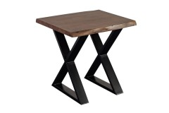 Manzanita Walnut End Table with Different Bases, VCA-ET24W - LIMITED SUPPLY
