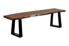 Manzanita Harvest Bench with Different Bases, VCS-BN58H