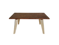 FC-010 Reclaimed Metal Flared Leg Dining Table